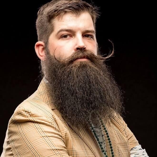 Full Beard + Long Mustache