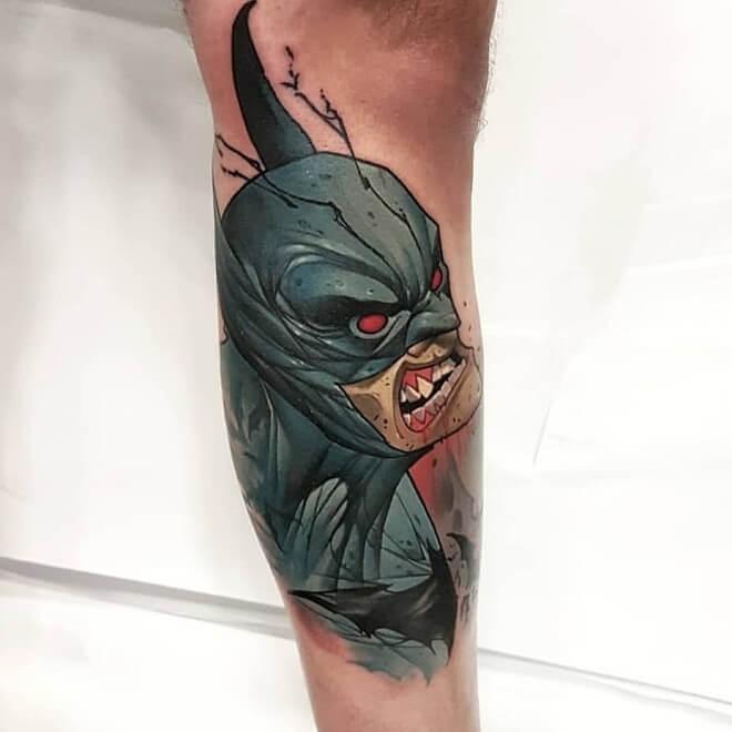 Angry Batman Tattoo