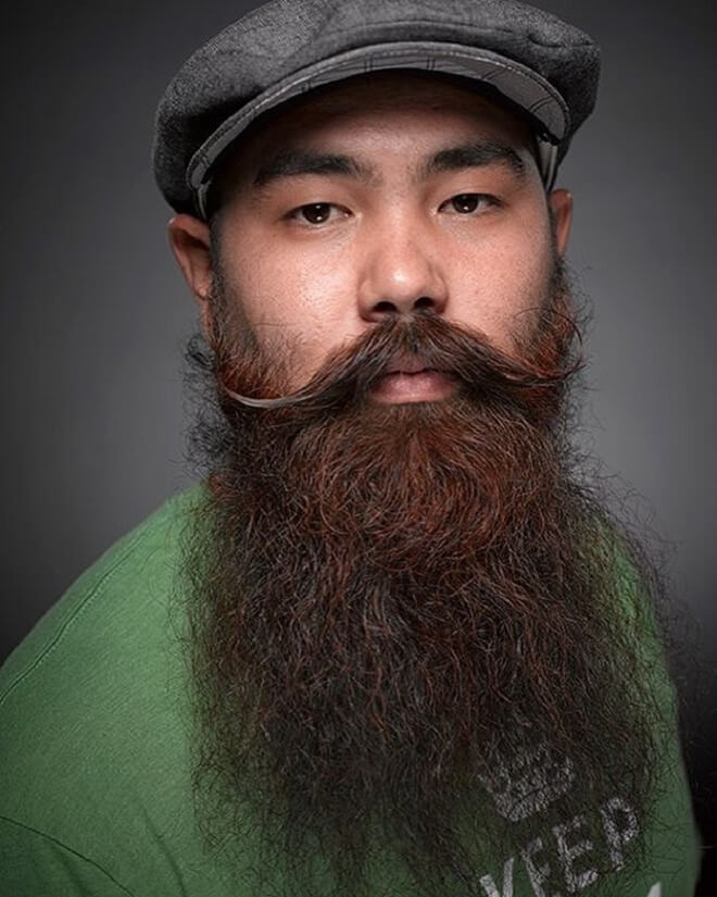 Asian Long Beard With Mustache