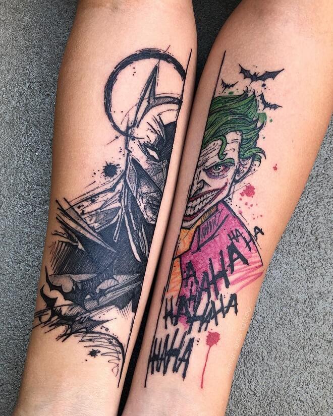 Batman And Jocker Tattoo