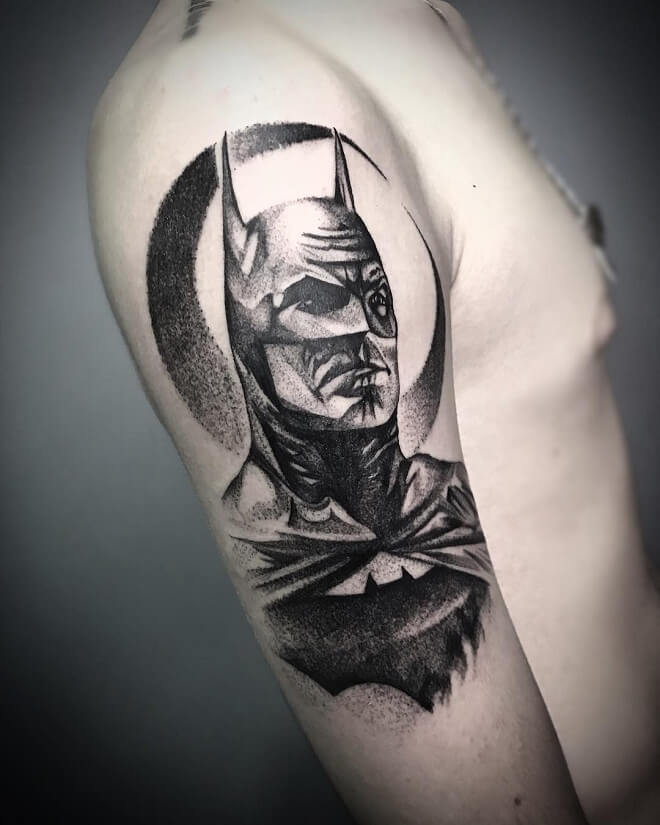 Batman Blackwork Tattoos