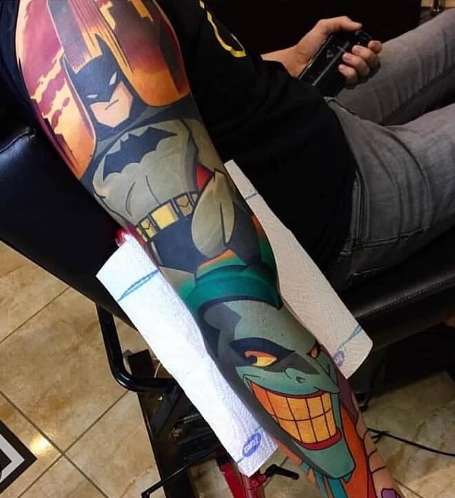 Batman Cartoon Tattoos