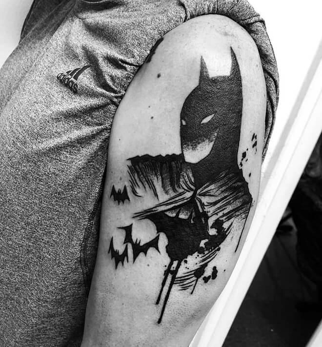 Batman Dotwork Tattoo