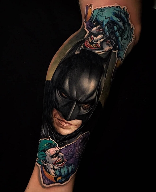 Batman Realistic Tattoos