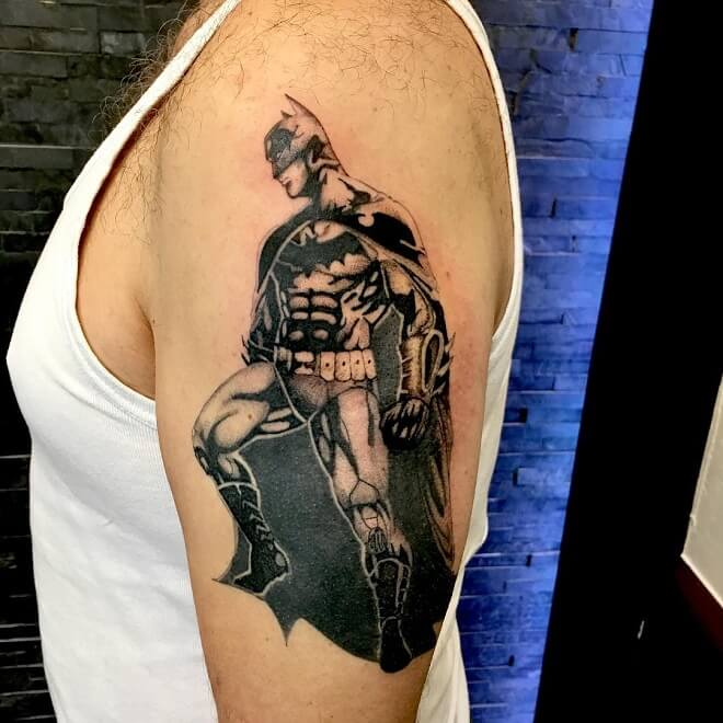 Batman Standing Tattoo