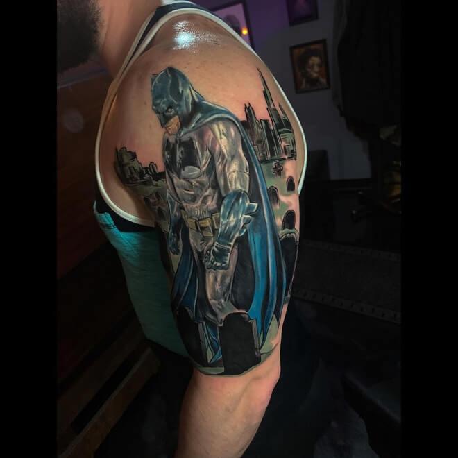Batman With City Tattoo