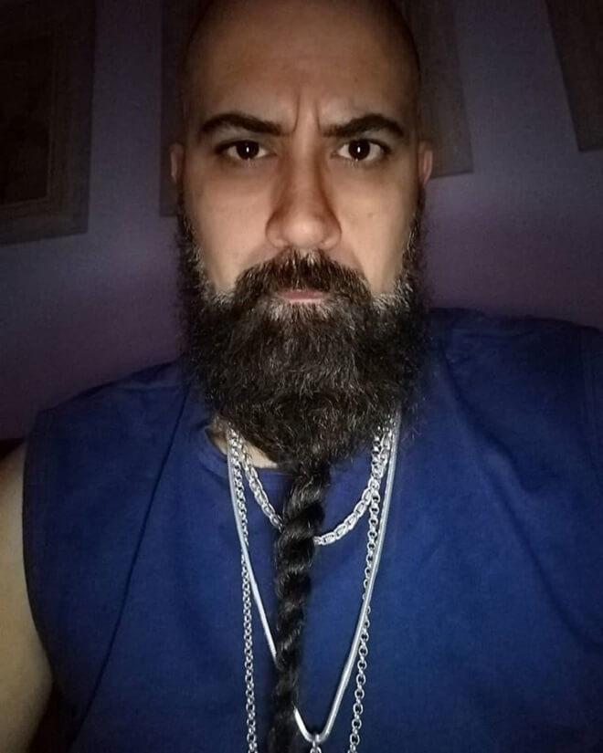 Beard with ropebraid