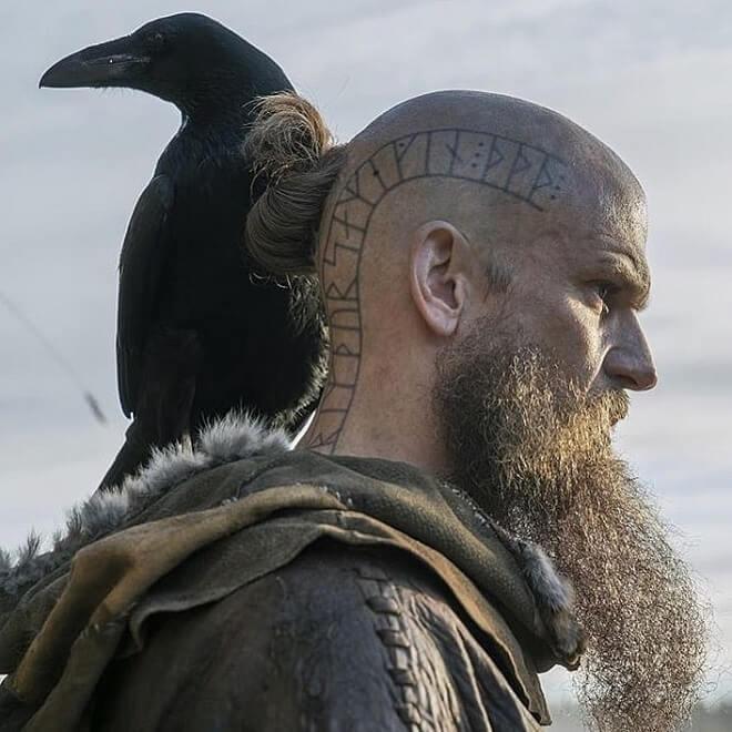 Beard with tattoo