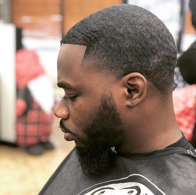 Blowout Hairstyle With Beard