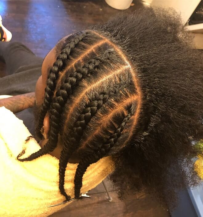 Braids with mohawk style