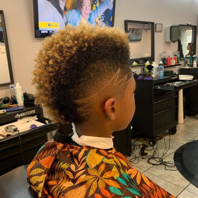 Burst Fade with Yellow Color