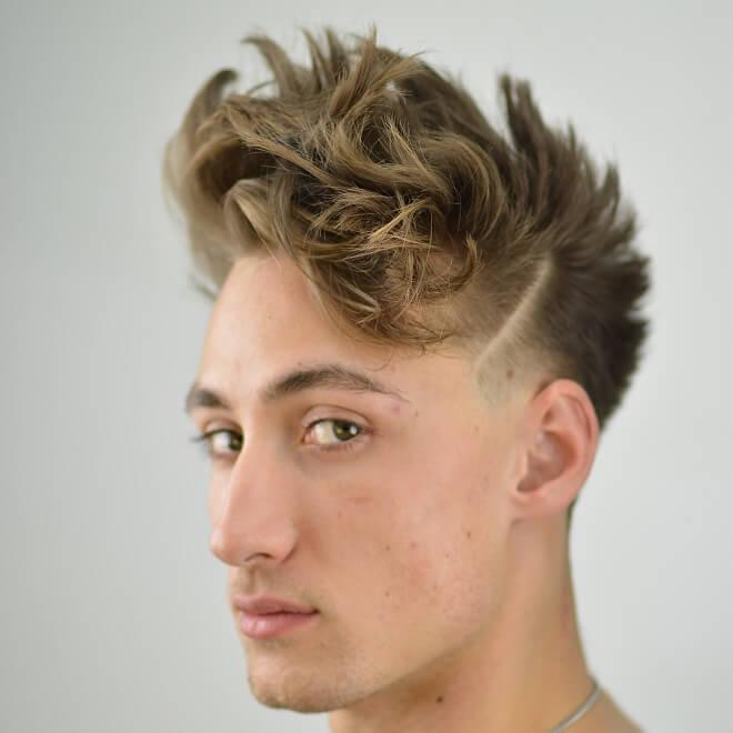 Burst fade with stylish hair