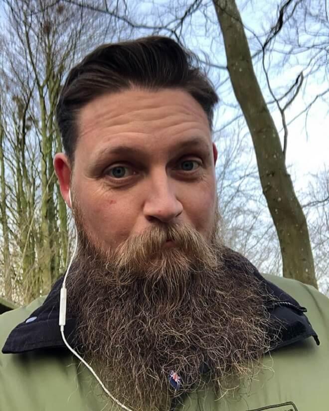 Bushy Viking bearded