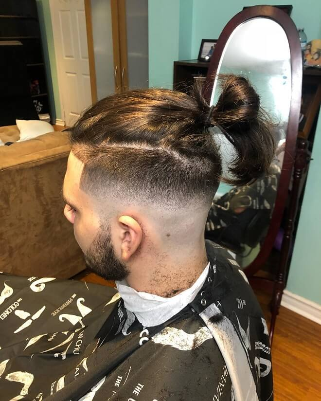 Casual Man Bun Hairstyle