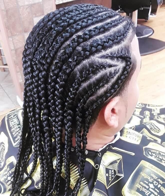 Clean long braids