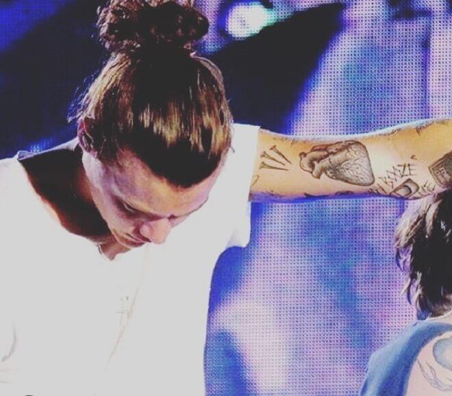 Harry Styles Bun Hair