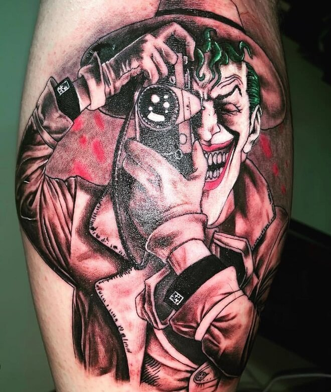 Joker Thig Tattoo
