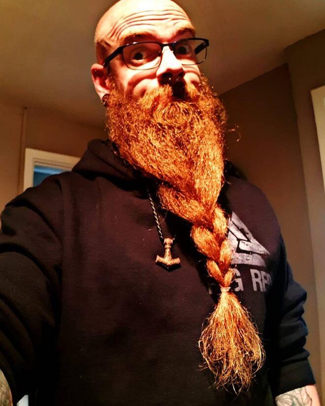 Low French Braided Beard
