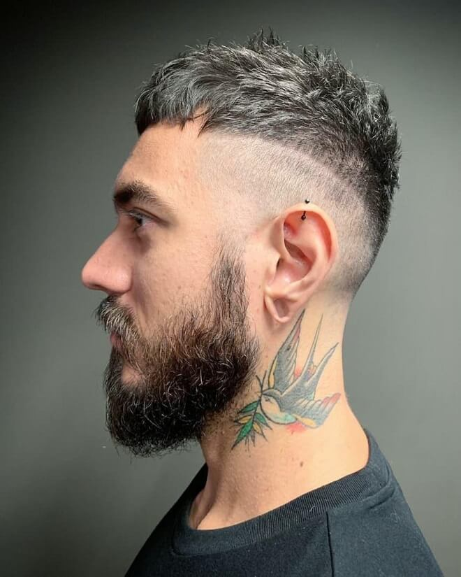 Low Skin Fade with Part