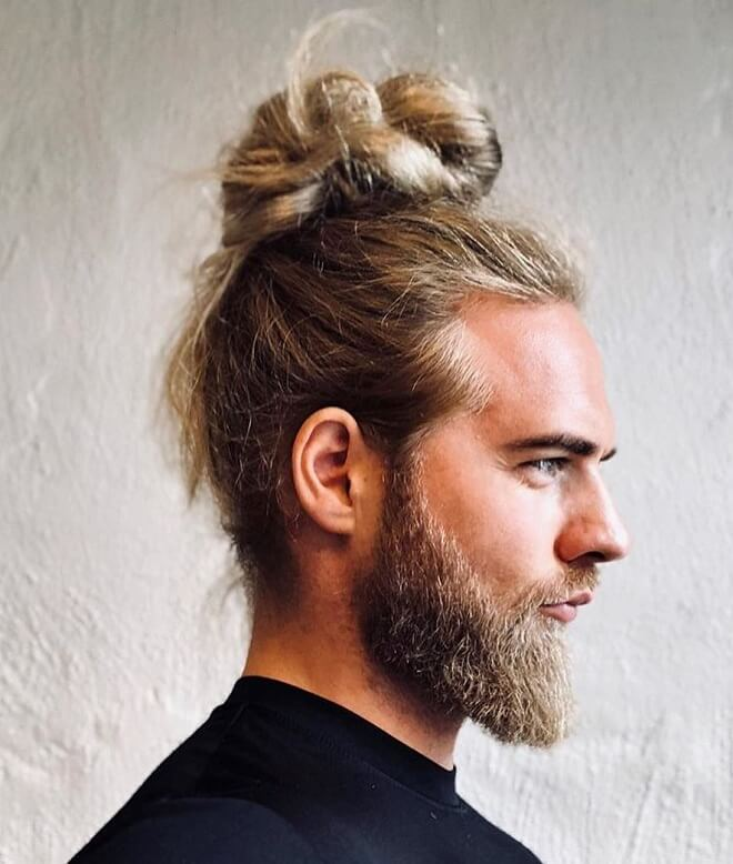 Top 30 Awesome Man Bun Fade Styles Stylish Man Bun Fade Style 2019