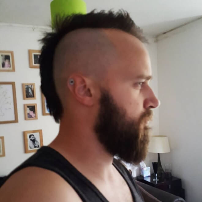 Mohawk Fade with beard