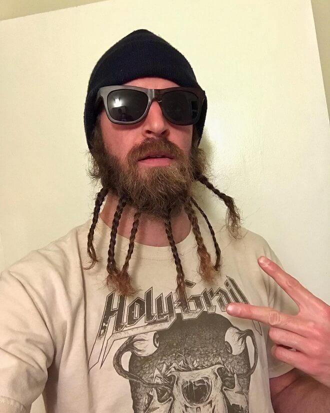 Neat Braids Beard