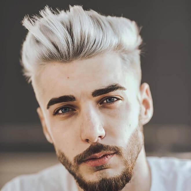 Platinum Slick Hairstyle