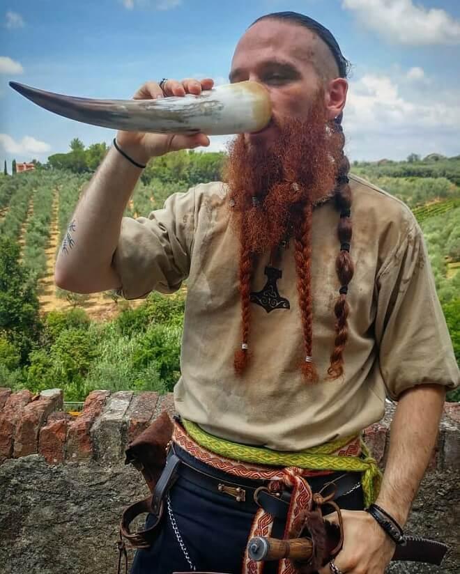 Red Braided Beard