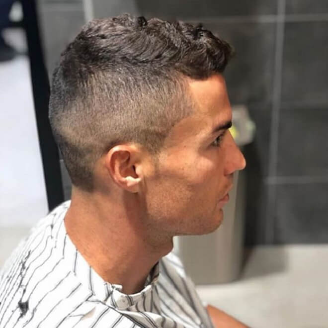 Ronaldo Hairstyle With Low Fade