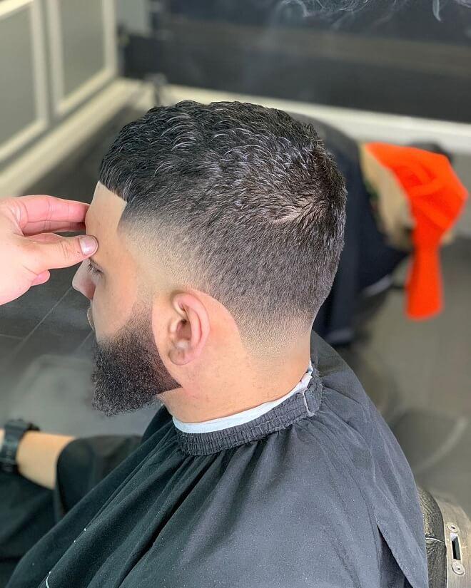 Sharp Fade Blowout Haircut