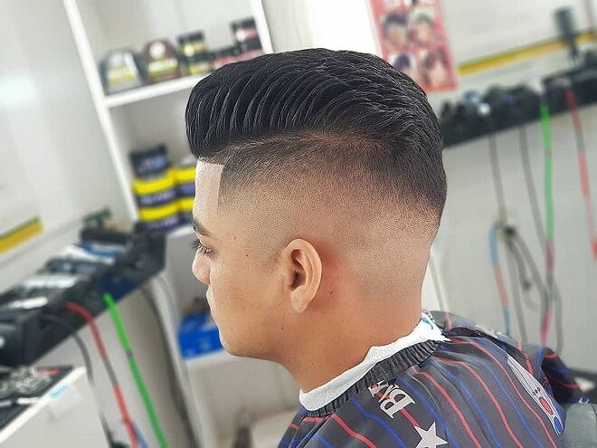 Shaved Side Pompadour