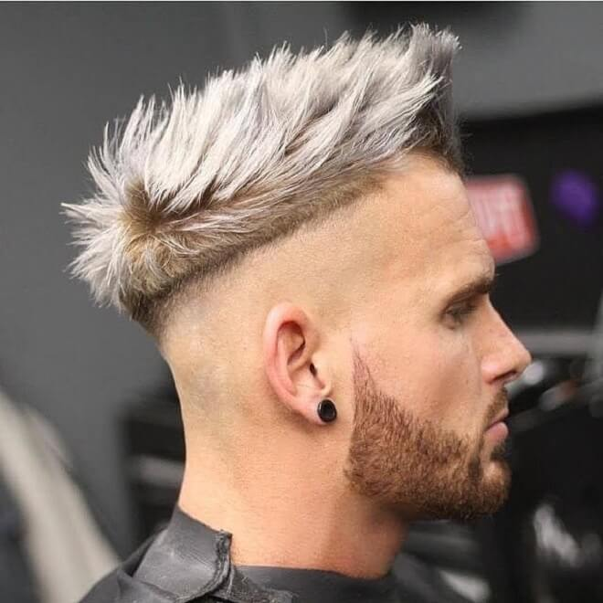 Side Buzz Cut Blowout Hairstyle