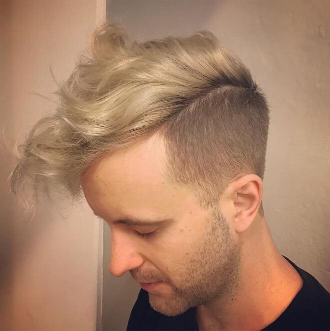 Side cut blonde