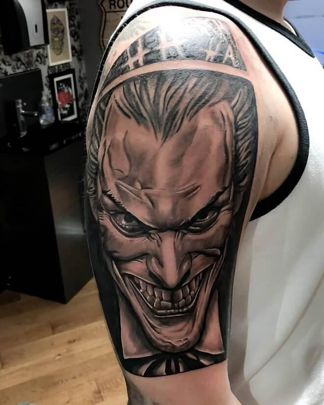 Top 30 Crazy Joker Tattoo For Men And Women Joker Tattoo 2019
