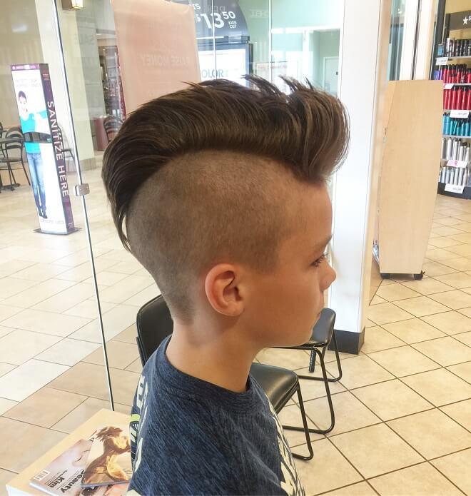 Stylish Mohawk Fade