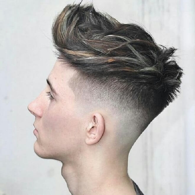 Textured Spiky Hair With Shaved Side