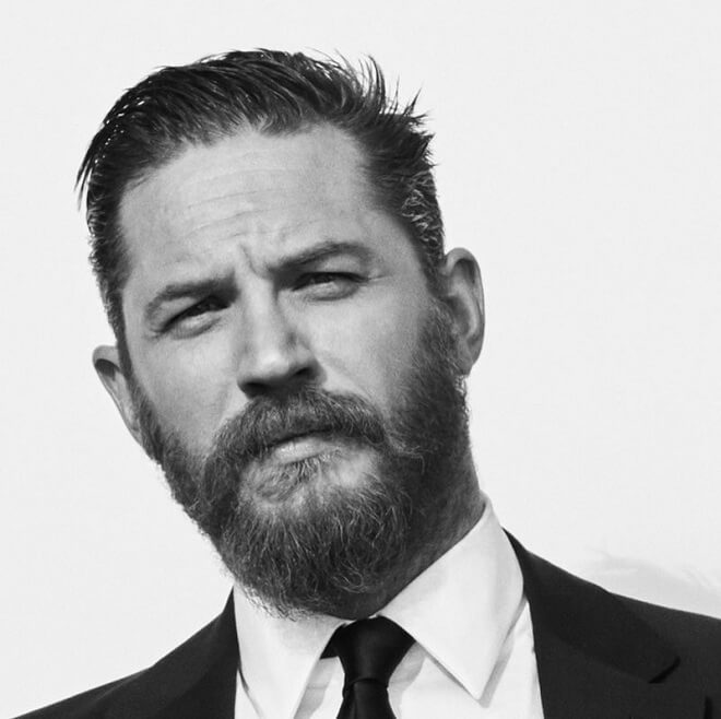 Tom Hardy Full Stubble Beard