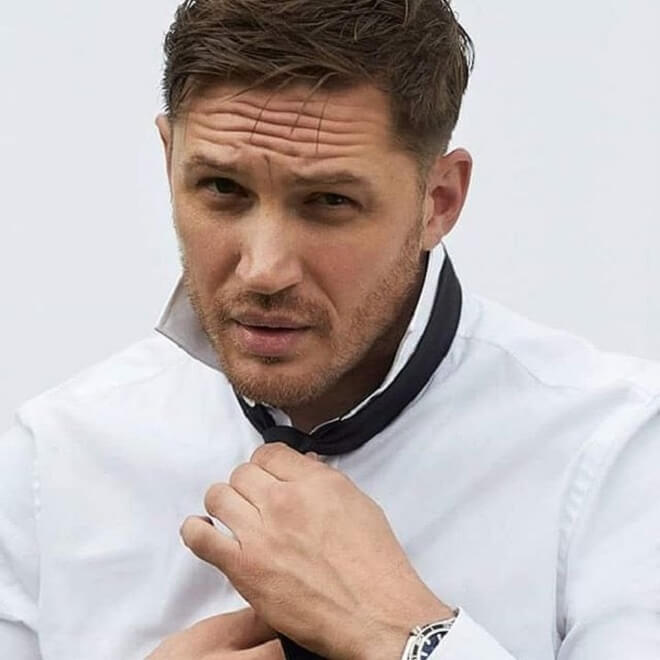 Tom Hardy Short Stubble Beard