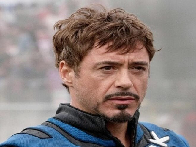 Tony Stark Hairstyle With Beard