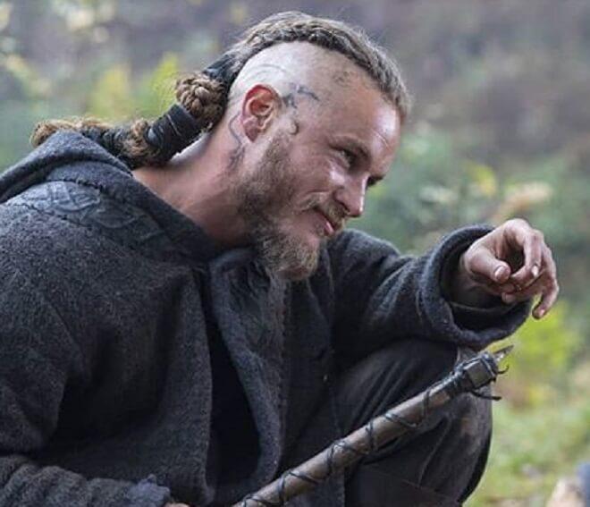 Viking Beard with braided hairstyle
