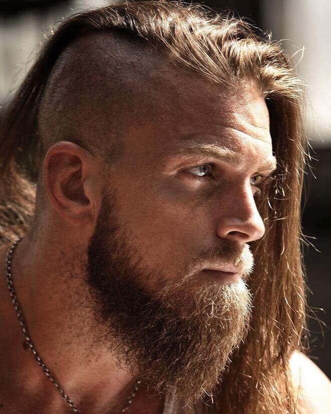 Viking Hairstyle With Beard