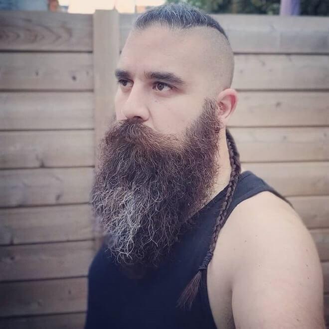 Viking Mohawk with long beard