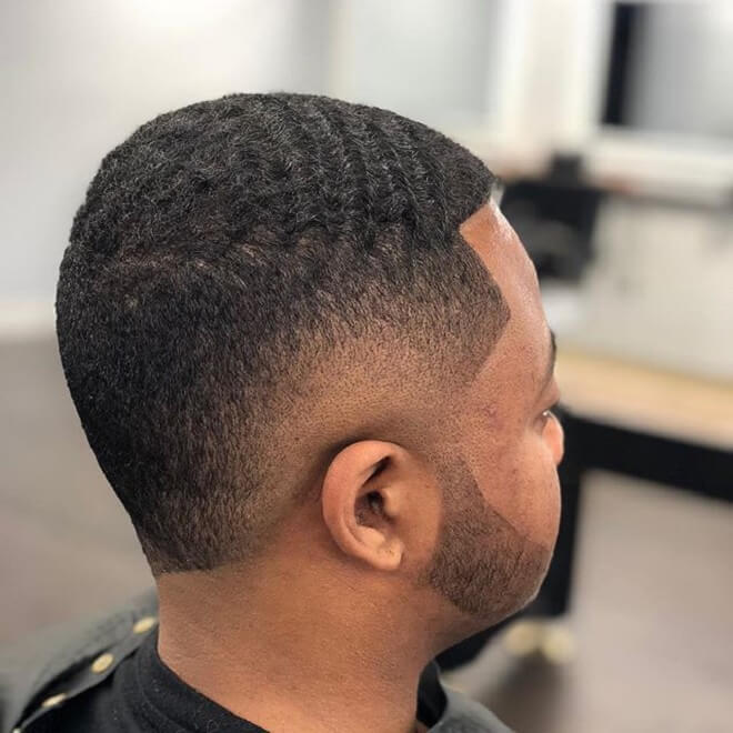 Wave Hairstyles With Burst Fade