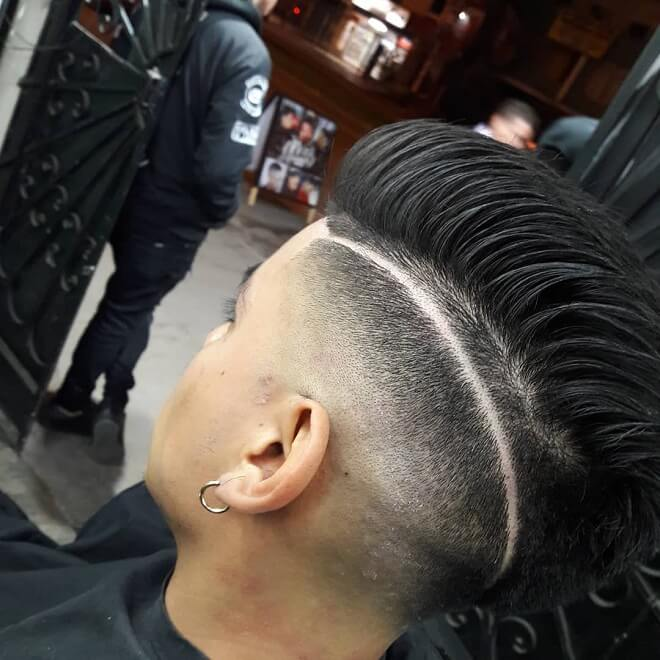 With Pompadour Style