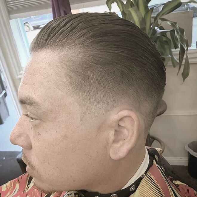 With Slick Back Style