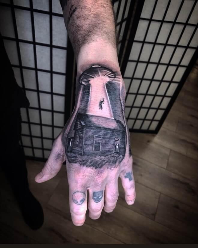 Alien Hand Tattoo
