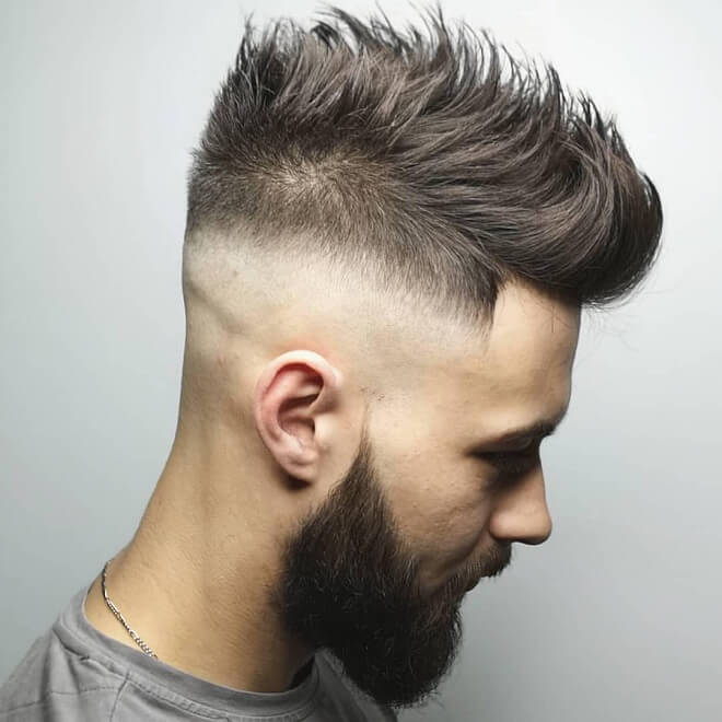 Athlete Spiky Haircut With Razor Fade