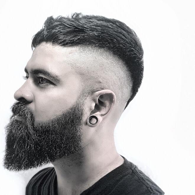 Bald Fade With Haircut
