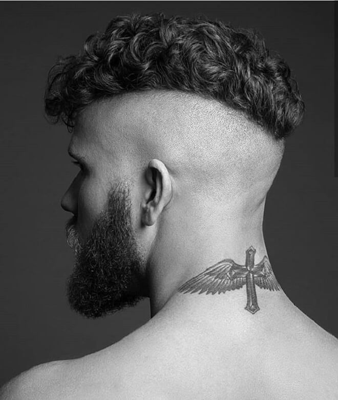 Bald Fade With Top Short Curly Hair