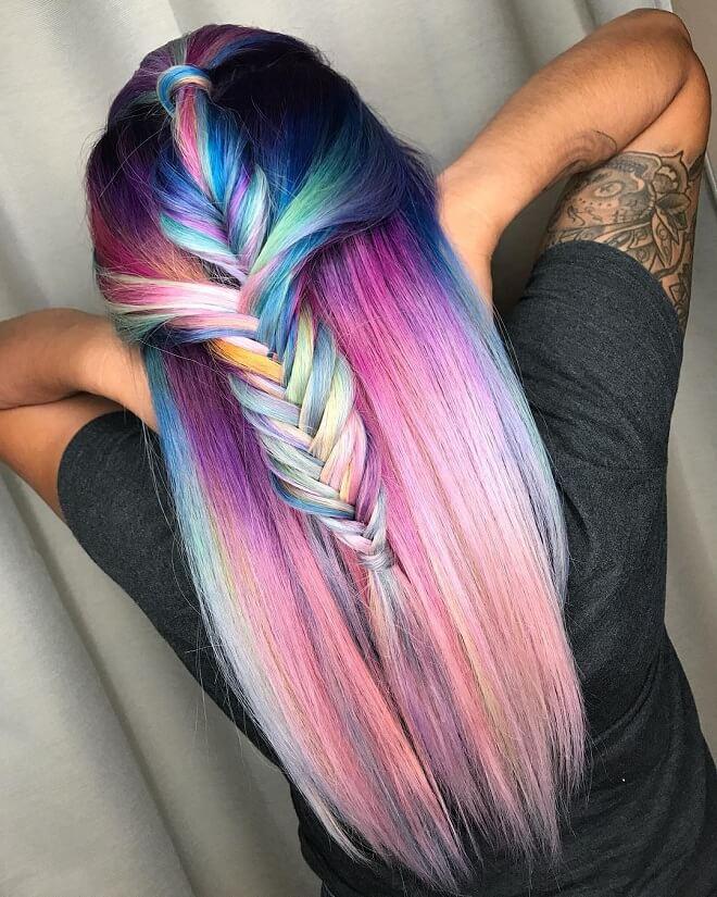 Beautiful Rainbow Hairstyle